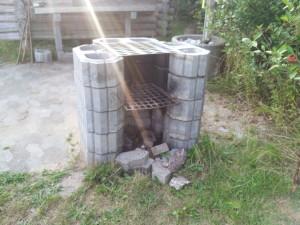 Grillsted ved gl. shelter